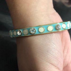 Vintage Kate Spade Turquoise & Diamond Like Bangle